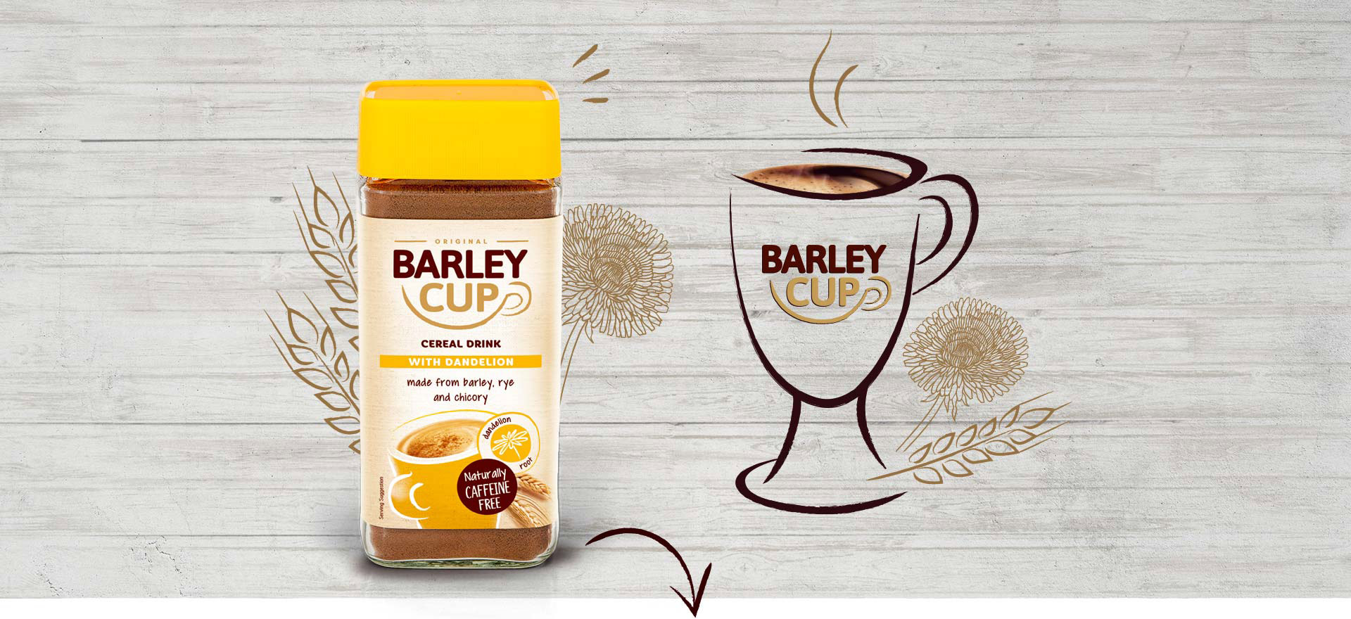 Barleycup with Dandelion